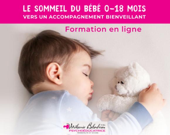 Le sommeil du bébé 0-18mois